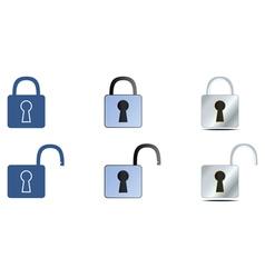 lock icons set vector image