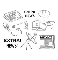 news set icon vector image