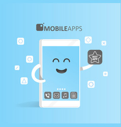 smartphone concept of online app market purchase vector image