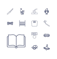 13 object icons vector
