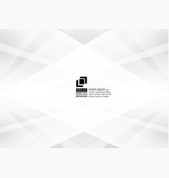 abstract gray and white color geometric modern vector image