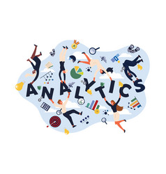 analytics experts economists analysts making kpi vector image