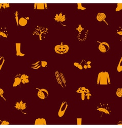 Autumn icons orange seamless pattern eps10 vector