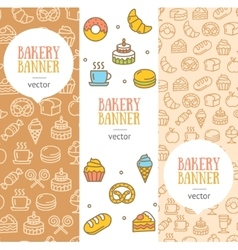 Bakery Banner Flyer Vertical Set vector image