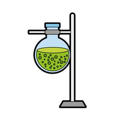 Base test tube with liquid vector