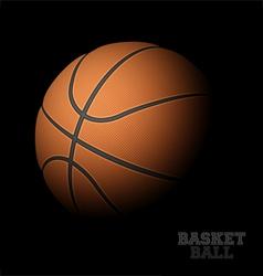 Basketball on black vector image
