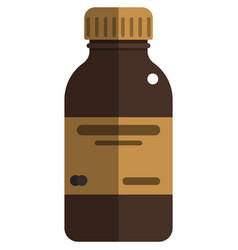 Bottle with medicine icon isolated on white vector