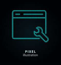 Browser - pixel icon on black vector