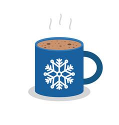Christmas drink hot coffee hot chocolate flat vector