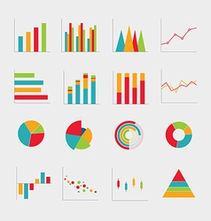 collection business diagrams charts vector image