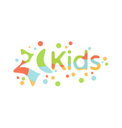 colorful abstract kids design vector image