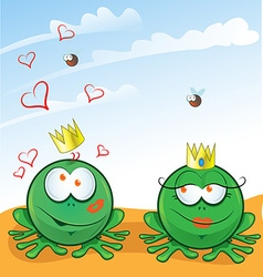 couple frog vector image