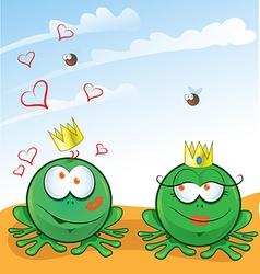 couple frog vector image