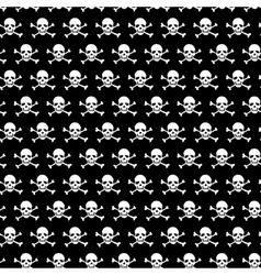 Crossbones and skull pattern on black background vector