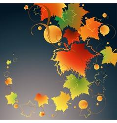 Dark autumn vector