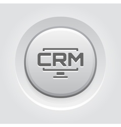 Desktop CRM System Icon Grey Button Design vector