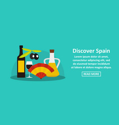 discover spain banner horizontal concept vector image