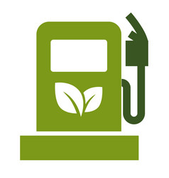 Ecology saving eco fuel gas station symbol vector