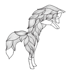 Entangle jumping fox vector