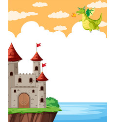 fairy tale story template vector image