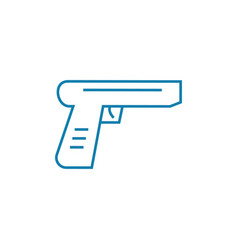 firearms linear icon concept firearms line vector image