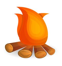 flame bonfire icon cartoon style vector image