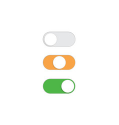 flat simple on off toggle switch button set vector image