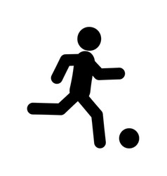 football player glyph icon vector image