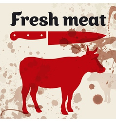 Fresh meat beef vector image