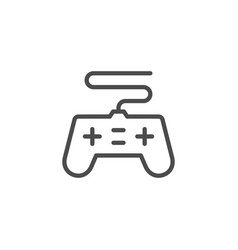gamepad device line outline icon vector image