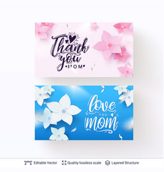 greeting banners for mother day template vector image