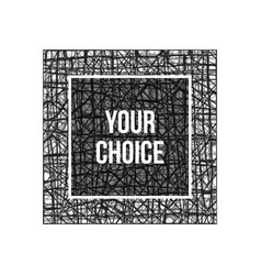 grunge-frame-texture-pen vector image