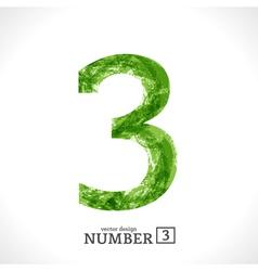 Grunge Number 3 vector