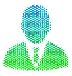 halftone blue-green manager icon vector image