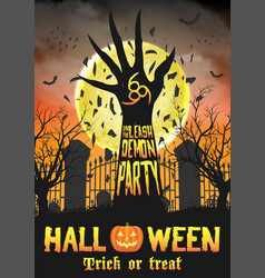 halloween unleash demon party vector image
