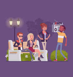 hang out party vector image