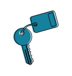 Key room door icon vector