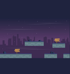 Landscape city for game background vector