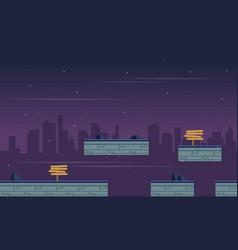 Landscape city for game background vector