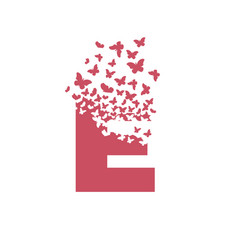 Letter e with effect destruction dispersion vector