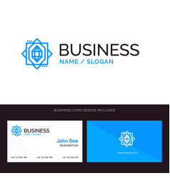 Logo and business card template for 3d core vector