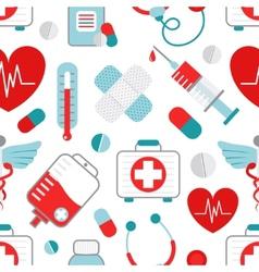 Medicine seamless pattern vector image