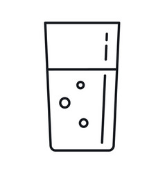 milk in a glass in line style isolated vector image
