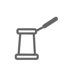 monochrome turkish coffeemaker icon on white vector image