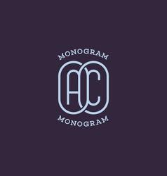 monogram ac vector image