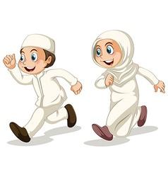 Muslim kids vector image