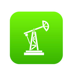 oil rig icon digital green vector image