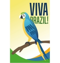 Parrot cartoon of brazil design vector
