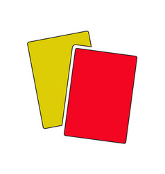 red yellow cards icon design vector image