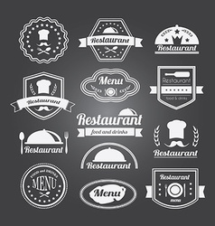 Retro restaurant vintage Insignias or logotypes vector